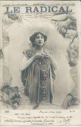 Advertising - Newspaper,journaux - LE RADICAL. Girl,fashion,pin-ups.edition - S.I.P.Paris.Postcard Via 1902.Paris/Geneva - Women