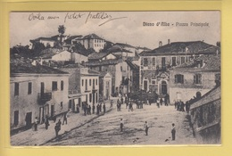 OLD POSTCARD ITALY - ITALIA  -   DIANO D'ALBA - PIAZZA - ANIMATED - Cuneo