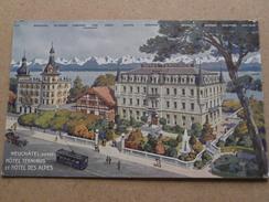 Hôtel TERMINUS Et Hôtel DES ALPES ( Trüb ) Anno 19?? ( Details Zie Foto´s ) !! - NE Neuchâtel