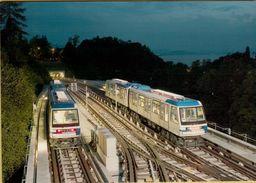 140986 Svizzera Storia Postale  Metro M2 Lausanne Ouchy Epalinges Treni - Elicotteri