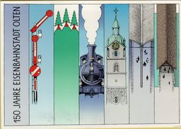 140992  Storia Postale Svizzera 150 Jahre Eisenbahnstadt Olten - Storia Postale