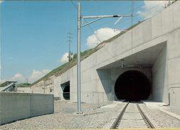 140993  Storia Postale Svizzera Bahn Lotschberg Tunnel Di Base  Ferrovia - Storia Postale