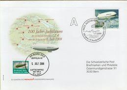 140994  Storia Postale Svizzera Dirigibile Zeppelin - Storia Postale