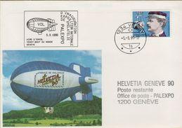 140995  Storia Postale Svizzera Dirigibile Inauguration Exposition Nationale De Philatelie - Storia Postale