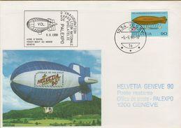 140997  Storia Postale Svizzera Dirigibile Inauguration Exposition Nationale De Philatelie - Storia Postale