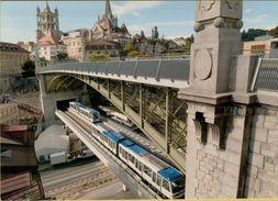 141005  Storia Postale Svizzera Treni Metropolitana  Metro M2 Lausanne Ouchy Epalinges - Svizzera