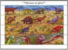 TANZANIE: Animaux Prehistoriques. (YVERT 1091/1106)  **Faune Préhistorique Prehistoric Animals - Prehistorics