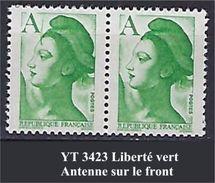 """FR Variétés YT 2423 """" Liberté Vert """" Antenne Sur Le Front - Errors & Oddities"""