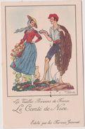 Illustrateur :  J. Droit De Chez Farines Jammet :  Région : Le  Comté  De  Nice - Droit