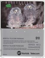 NORFOLK ISL. - Boobook Owl/Hybrid Owlets(series No: 2), Tirage %7000, Used - Norfolk Island