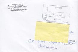 Spain Hueneja (Granada) GUADIX Franquero Paga. Oficina 2011 Cover Letra BRØNDBY STRAND Denmark - 1931-Heute: 2. Rep. - ... Juan Carlos I