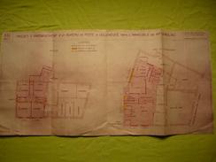 Plan Projet D'aménagement D'un Bureau De Poste à Montpellier Celleneuve 1946 - Other Plans