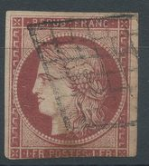 Lot N°36658  N°6 Oblit Grille De 1849, Ni Pli, Ni Clair, Voir Verso - 1849-1850 Cérès