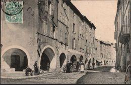 ! [30] Cpa, Alais, Ales Les Arceaux Du Grand Marche, 1907 - Alès