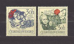 Czechoslovakia Tschechoslowakei 1969 MNH ** Mi 1890-1891 Sc 1638-1639 Slovak Uprising. Battle Of Dukla. Slov. Aufstand. - Unused Stamps