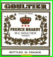 ETIQUETA   BODEGAS  M.C.GOULTIER  FRANCE - Etiquetas