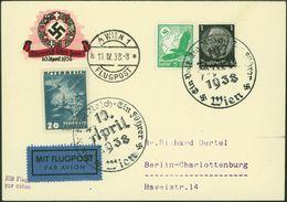 Deutsches Reich Flugpost-Brief Selt. 2 Länder-MIF Wien Österreich Berlin 1938 - Deutschland