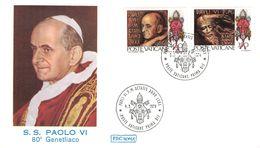 VATICAN - FDC 1978 POPE PAUL VI Mi #718/19 - FDC