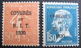 LOT DF/680 - CONGRES DU B.I.T. PARIS 1930 - N°264 NEUF* + N°265  NEUF** - Cote : 50,75 € - France