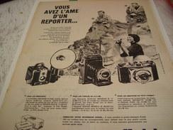 ANCIENNE PUBLICITE APPAREIL KODAK    1957 - Photographie