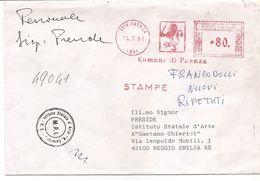 3-FAENZA-ANNULLO MECCANICO COMUNE DI FAENZA-SU BUSTA - 6. 1946-.. Repubblica