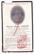 DP Gesneuveld Guerre Tombé 14-18 Soldat Maurice Tankeré  Bossaert ° Godewaarsvelde † Moreuil Villers-aux-Érables - Images Religieuses