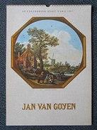 Calendrier D' ART VAKA ( Amsterdam ) 1967 - Peintre JAN VAN GOYEN -      (4387) - Calendriers