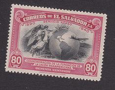 El Salvador, Scott #C72, Mint Hinged, Map Of Americas, Issued 1940 - Salvador