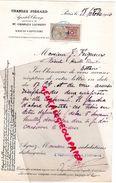 75 - PARIS - LETTRE CHARLES PIGEARD AGENT DE CHANGE BANQUE-CHARLES LAURENT- 9 RUE DU 4 SEPTEMBRE-1916- M. FEIGNEUX NIEUL - Bank & Insurance