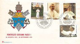 VATICAN - FDC PONTIFICATO GIOVANNI PAOLO I Mi #732-735 - FDC