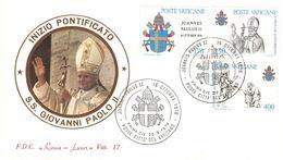 VATICAN - FDC 1979 GIOVANNI PAOLO II Mi #736-738 - FDC