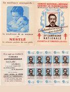 Carnet De 10 Timbres (Vignettes Non Postales) Comité Contre La Tuberculose - Portrait De Villemin + Pubs      (99576)) - Other
