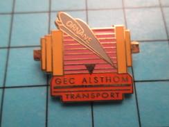 Pin2317 Pin´s Pins : BEAU ET RARE : MARQUES / TGV ORNANS GEC ALSTHOM TRANSPORT - Trademarks