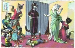 "Illustrateur. Chats Humanisés. Mode 1957. ""Sew What's New Kittens"". - Illustrateurs & Photographes"