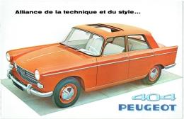 Ancien Dépliant Publicité. Auto Peugeot 404. 1960. - Advertising
