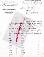 87 - LIMOGES - LETTRE MANUSCRITE F. TARNEAUD- BANQUE RECOUVREMENTS-MICHEL TERRIER-  M. FEIGNEUX NOTAIRE A NIEUL-1917 - Bank & Insurance