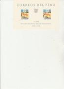 PEROU - BLOC FEUILLET N° 3 NEUF XX  -ANNEE MONDIALE DU REFUGIE - ANNEE 1960- COTE : 17,50 € - Pérou