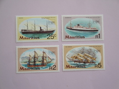 1980 Maurice Yvert 506/9 ** Bateaux Ships Scott 498/01  Michel 494/7  SG 592/5 Expo London - Maurice (1968-...)