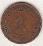 Ile Maurice , 1 Cent 1922 , George V - Maurice