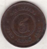 Ile Maurice , 5 Cents 1877 , Victoria - Maurice