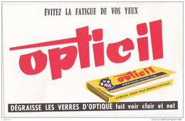 Buvard OPTICIL / Dégraisse Les Verres D´optique - Blotters