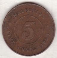Ile Maurice , 5 Cents 1924 , George V - Mauritius