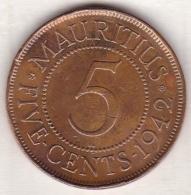 Ile Maurice , 5 Cents 1942 , George VI - Maurice