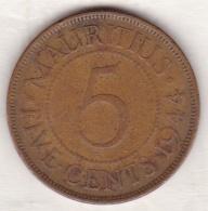 Ile Maurice , 5 Cents 1944 , George VI - Mauricio