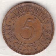 Ile Maurice , 5 Cents 1965 , Elizabeth II - Mauritius