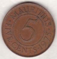 Ile Maurice , 5 Cents 1975 , Elizabeth II - Mauritius