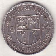 Ile Maurice, 1 Rupee 1934 , George V, En Argent - Mauritius