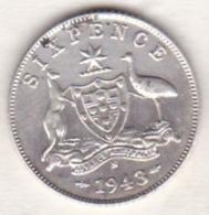 Australie ,6 Pence 1943 S  ( San Francisco) , George VI, En Argent - Monnaie Pré-décimale (1910-1965)