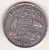 Australie , 6 Pence 1911  (Londres)  , George V , En Argent - Monnaie Pré-décimale (1910-1965)
