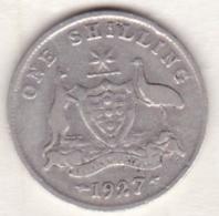 Australie , 1 Shilling 1927 (Melbourne) , George VI, En Argent - Monnaie Pré-décimale (1910-1965)